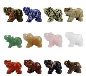12 sayımı Yeni varış 25 * 25 * 10mm doğal karışık renkli fil taş kolye taş süsler Chiristmas hediye