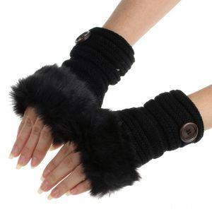 JAYCOSIN Fashion Winter Knitted glove Other Fashion Accessories Faux Fur Fingerless Gloves Women Wrist Soft Warm Mitten arm warmer j5