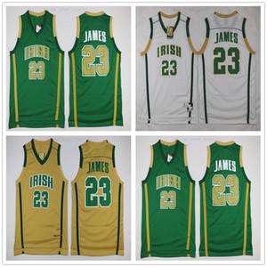 NCAA 23 LeBron James irlandês St. Vincent Mary Jerseys melhor qualidade costurado de basquete da escola Jersey Universidade respirável Verde