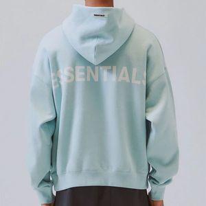 Uzun Kollu ile 3M Reflektif SİS Essentials Kapüşonlular Erkekler Kadınlar Tasarımcı Tişörtü Sokak Stili Harf Baskılı Siyah Pembe Mavi Kazak