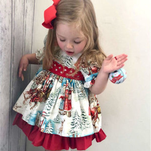 CANIS Kids Toddler Baby Girl Dress Christmas Flared Party Pageant Santa Claus Tutu Dress Clothes Xams Baby Girls Dresses Summer