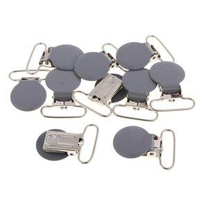 Sahte Emzik Bebek diş kaşıyıcınız Önlüğü Clip 10 Metal emziği Klipler Paketi / Suspender Klipler