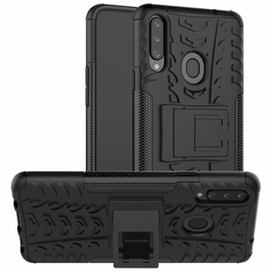 Pour Samsung Galaxy A20S cas mode stand Refroidir 2019 support robuste Combo hybride Armure d'impact Support Holster pour Samsung Galaxy A20S