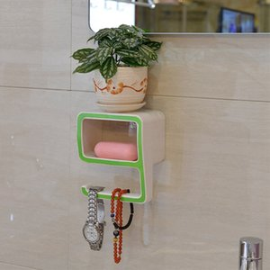 Home Storage Bathroom Towel Holder Number 9 Shaped Plastic for Soap Cosmetics Storage Rack Wall Shelf Bath Organizer
