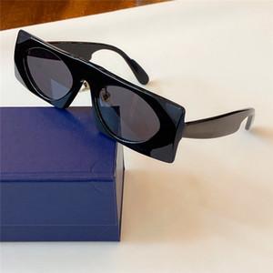 Nouveau designer de mode lunettes de soleil petit cadre cadre carré objectif ovale top qualité 1253 pop style avant-gardiste objectif uv400