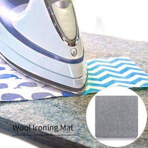 Felt cinza Pressionando Mat engomadoria Pad High Temperature tábua de engomar Felt Supplies Tábua domésticos Pressionando Mat Acessórios