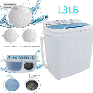 13lbs Portable Mini Washing Machine Compact Twin Tub Washer Spin White for Apartment Dorms Shipping from US