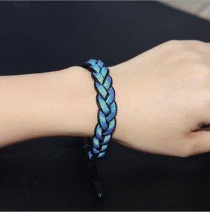 Handgewebte Seil Mode Fluoreszenz-Licht-Glühen Schmuck geflochtenen Seil Armband Männer Armband Kleiner Löwe für Frauen Lovers