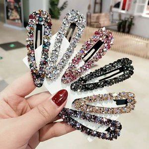 S931 Hot Fashion Jewelry Colorful Rhinstone Barrette Hair Clip BB Barrette Womens Girls Hairpin Barrettes