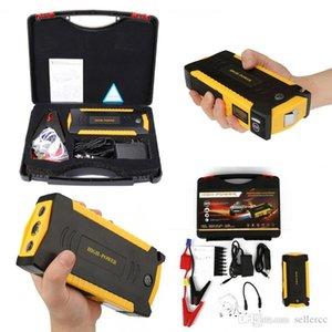 Car Jump Starter Power Bank 69800Mah Power Inverter 12V Portable Battery Booster 4 Banque d'alimentation USB Lcd écran Compass Led lampe de poche pour le camp
