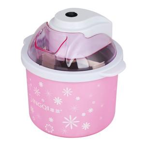 220-240v 1.5 L 8W DIY Whit / Pink детская машина для фруктового мороженого алюминиевый вкладыш замораживание жидкости охлаждение медный двигатель 21x21.5 см