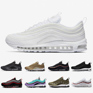 nike Air Max 97 airmax 97 shoes Passez une bonne journée Cushion Spring Yellow Gym red Femmes Vêtements Course Chaussures de sport Panda Pigeon Blanc Orange Bio Beige Trainer