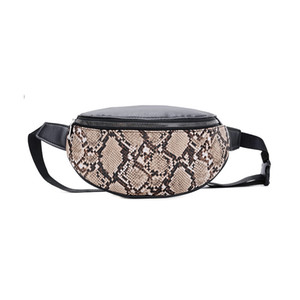 women waist bag fanny pack belly belt bag heuptas hip bum bag girl banane sac marsupio uomo serpentine PU leather pochete
