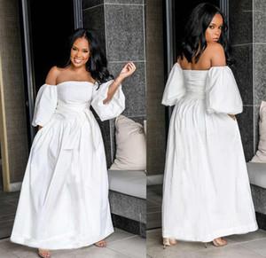 Style style robe mode Plus Taille Femme Vêtements Été Femmes Casual Robes Couleur Slash Slash Col
