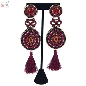 Yulaili Vintage Style Hand-made Earring for Women Drop Earrings Trendy Lady Party Wedding Jewelry Accessories Free Shipping