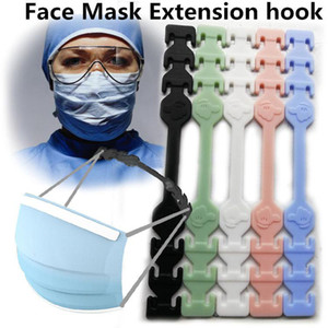 Ready 24h Free DHL Ship Third Gear Adjustable Anti-Slip Mask Ear Grips Extension Hook Face Masks Buckle Holder Face Mask Ear Buckle