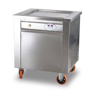 Мороженое машина Коммерческая Полностью автоматическая Fried Йогурт машина Интеллектуальные площади Пот Жареный молочный Fruit Machine Fried Ice Cream Roller