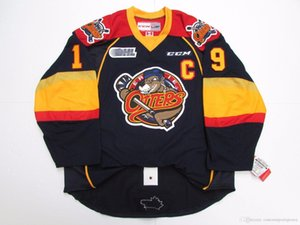 Cheap custom DYLAN STROME ERIE OTTERS NAVY CCM HOCKEY JERSEY stitch add any number any name Mens Hockey Jersey XS-5XL