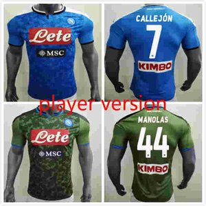 Player version 19 20 Naples Napoli home soccer jerseys Napoli blue football Jerseys Shirt for men 2019 LOZANO HAMSIK L.INSIGNE Shirt