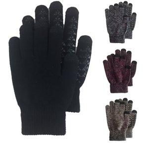 All'ingrosso Five Fingers Guanti donna tocco Uomini schermo Knit Mittens inverno caldo antiscivolo guanti Designer