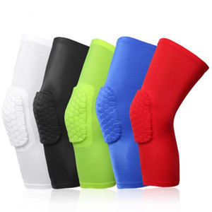 Youth Kids Clothing Honeycomb Sock Sports Safety Basketball Kneepad Padded Knee Brace Compression Knee Sleeve Protector Knee Pads XT050