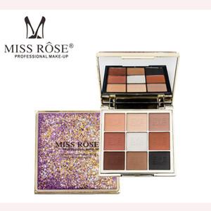 MISS ROSE Professionelle Augen Make-up 9 Farben Lidschatten-Palette Gold Smoky Cosmetics Make-up-Palette