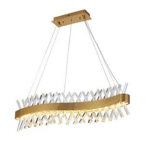 agiter la conception à long lustre de cristal lampe LED AC110V 220V lustre cristal barre d'éclairage de maison de lumière Kronleuchter