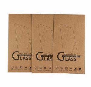 164 * 88 mm Universal Kraft Paper Packaging Retail Box para iphone X XS MAX XR 8 7 6S Samsung S7 S6 Protector de pantalla de vidrio templado