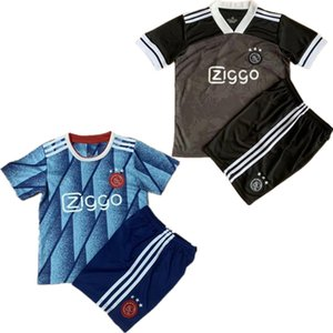 crianças kits Ajax PROMES jérsei de futebol 2020 21 Home Suite futebol VAN DE BEEK NERES TADIC ZIYECH DE JONG Huntelaar Maillots Sets