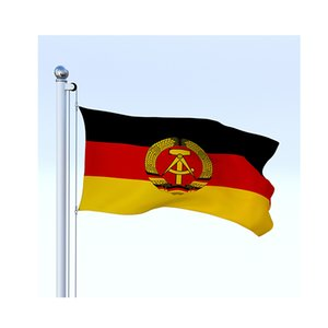 Ost-Deutschland Flagge 150x90cm 3x5ft Druck 60D Polyester Verein Sport Indoor Outdoor mit 2 Messing-Ösen, freies Verschiffen