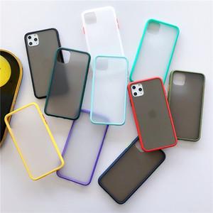 아이폰 (11) 프로 맥스 X XR XS 최대 7 7plus 8 8plus 3D 보호 수비수 커버로 돌아 가기 PC + TPU는 프로스트 6 기가 6plus 전화 케이스를위한 새로운 피부 전화 케이스