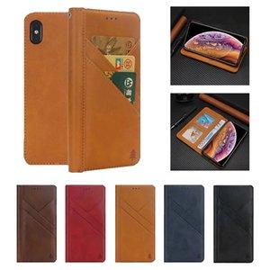 Estuche magnético para el teléfono con billetera de cuero PU para iPhone XS Max XR X 8 7 6 Plus y Samsung Galaxy Note 9 S9 S8 Plus con marco de fotos