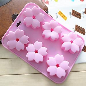 ستة أزهار من كعكة السيليكون الصابون المصنوع يدويا