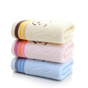 1Pc Cute Cotton Soft Child Bear Print Towel Household Face Towel Couple Face Towels Cotton