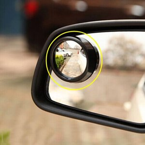 Coche 1pc 360 Ronda de gran angular lado del vehículo espejo convexo del coche del punto oculto del punto ciego espejo retrovisor ancha pequeñas y redondas