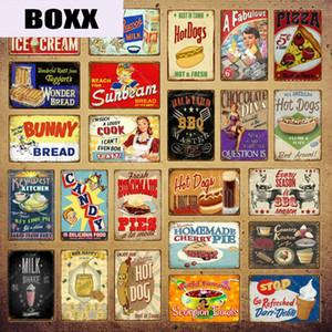 Piastra Wonder Bread Segni di metallo Pie Handmade Vintage poster Kitchen Decor Caffè Bar Negozio decorativa Food Cook Wall Sticker YI-154