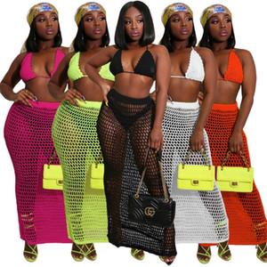 Womens designer two-piece dress sexy beachwear fashion playsuits удобный бюстгальтер+платье комплект из 2 частей женская одежда горячие продажи klw3347