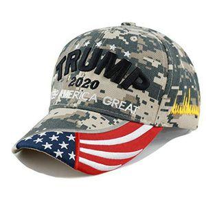camo Trumpf 2020 Hut rot Halten Make Amerika Große Stickerei Cotton Caps billig donald trump casquette bdegarden lmHJS