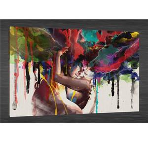 Hugging, HD Tuval Baskı Yeni Ev Dekorasyon Sanat Boyama / (Çerçevesiz / Çerçeveli)