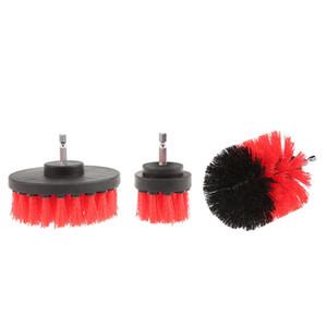 3PCS taladro eléctrico del cepillo de limpieza de nylon