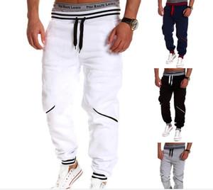 High Brand Mens Pants Elastic Waist Panlled Loose Cargo Men &#039 ;S New Fashion Printing Men &#039 ;S Sweatpants Trousers Fashion Casual M