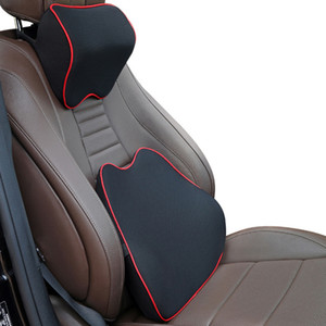 Car Neck Seat Lumbar Support Pillow Cushion Back Pillow Memory Cotton Lumbar Support For Office Chair Cushion For Car Auto