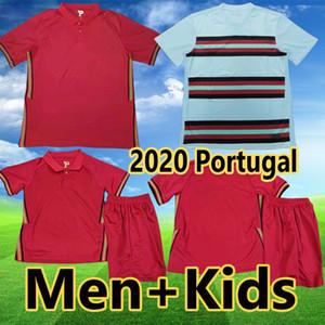포르투갈 2020 로날도 축구 유니폼 JOAO FELIX 베르나르도 멀리 흰색 축구 셔츠 CANCELO 땅드 실바 camisa 남성 여자 아이 세트 유니폼