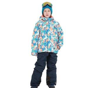 Costumes de ski de neige pour enfants pour bébé Garçons Filles Outdoor Wear Vestes à capuchon + Bandage Pantalons Enfants d'hiver chaud Snowboard Coat Ensembles