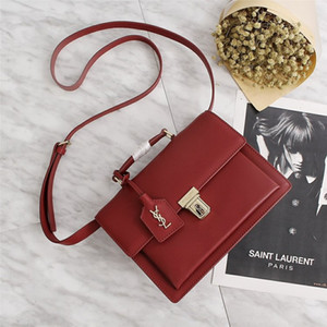 Couro Britânico Vintage mailman bag handbag ombro straddle pequeno saco estereotipado, flip-over, bloqueio, couro simples senhora saco