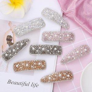 Clips donne coreane brillante strass forcine Ragazze capelli della perla strumenti di metallo Barrettes Hairgrip Hair Styling Accessori