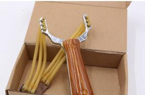 아연 합금 slingshot 나뭇결 마호가니 카드 구슬 6 가닥 slingshot 도매