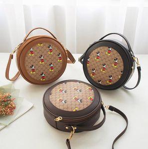 Kadınlar Yuvarlak Tasarımcı Çanta Ünlü Makyaj Mickey Deri Çanta Bayan Bez Omuz Çantaları Bayan Deri Çanta Çanta çanta