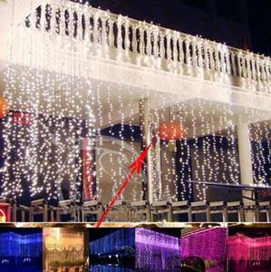 Außen 6M x 5M / 6MX4M 960 / 768LED Vorhang Blinklicht Weihnachtsfee Hochzeit Hintergrund-Licht-AC110V 220V