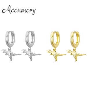 Moonmory Fashion 100% 925 Sterling Silver Dinosaur Drop Earring For Women Party 2020 Charm Animal Drop Earrings Wholesale